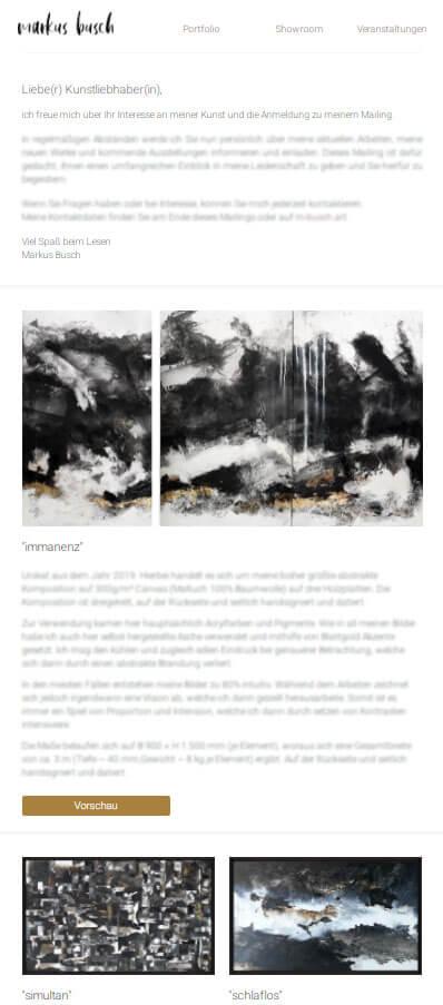 markus busch kunst mailing